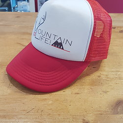 CASQUETTE MOUNTAIN LIFE ROUGE