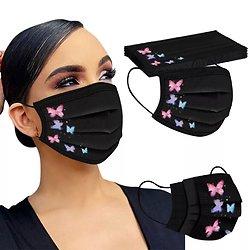 Masques adulte noir papillons