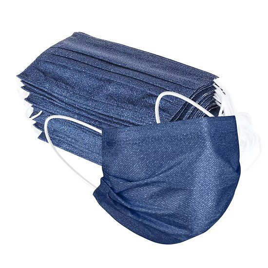Masques jetables jeans adulte X10