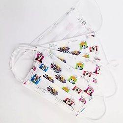 Lot de 10 masques jetables Mickey, minnie, donald, enfant