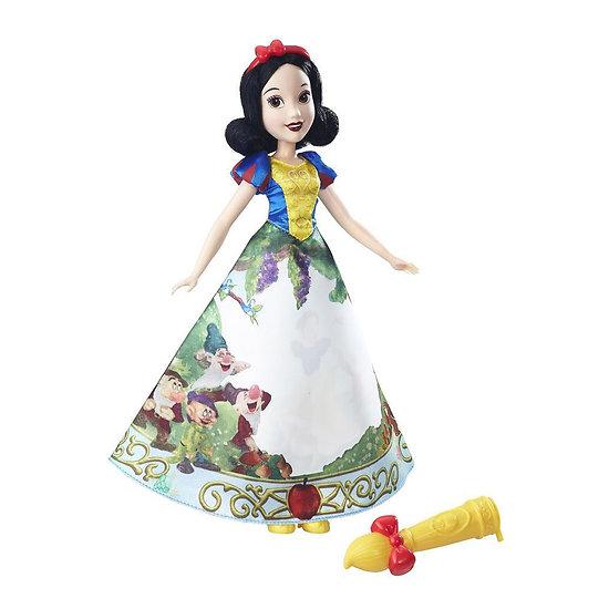 Poupée BLANCHE - NEIGE robe magique