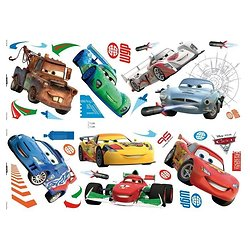 32 stickers muraux repositionnables CARS