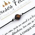 Joyeuses Fêtes et tout plein de bonheur - Carte + Bracelet au choix