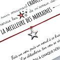 Carte de voeux Pour ma Marraine + Bracelet porte bonheur Etoile INOX