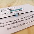 Carte Cousin ou Cousine - On choisit pas sa famille + Bracelet porte-bonheur