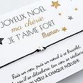Carte de Noël à personnaliser + Bracelet porte-bonheur étoile