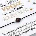 6 Cartes Que tous tes vœux se réalisent et Bracelet porte bonheur au choix