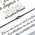 A personnaliser ! Carte Joyeux Noël Maîtresse Nounou Maître + Bracelet