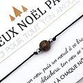 Duo de Cartes Joyeux Noël Parrain et Marraine + Bracelets porte-bonheur