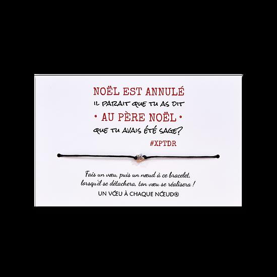Carte humoristique Noël est annulé + Bracelet porte bonheur 1 étoile
