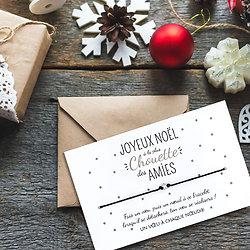 Carte Joyeux Noël Meilleure Amie + Bracelet porte bonheur étoile