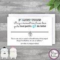Carte de voeux Félicitations Jeune Maman + Bracelet porte bonheur Petits Pieds