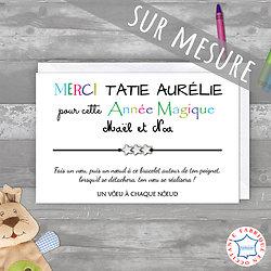 Carte Merci Tatie + Bracelet porte bonheur 3 étoiles