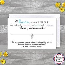 Carte de Remerciement Super Professeur + Bracelet porte bonheur Clé INOX