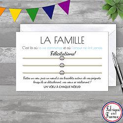 Carte de Félicitations + Trio de Bracelets Bille INOX