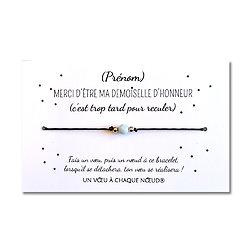 Carte à personnaliser Merci d'être ma demoiselle d'honneur + Bracelet Aigue marine
