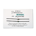 Carte Parrain ou Marraine - On choisit pas sa famille + Duo de Bracelets