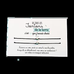 Carte Tonton ou Tata - On choisit pas sa famille + Duo de Bracelets