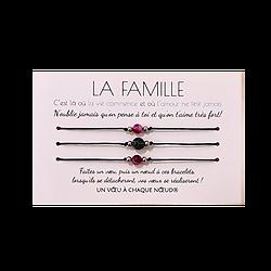 Carte personnalisée La Famille + 3 Bracelets Agate