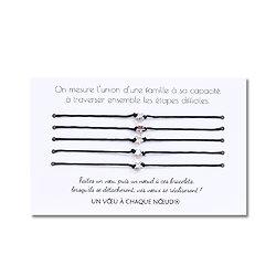 Carte L'union d'une famille + Bracelets porte-bonheur