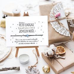 Petit cadeau juste pour toi pour Noël - Carte + Bracelet Aigue marine