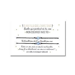 Carte cadeau pour ma fille ou mon fils + Duo de Bracelets porte-bonheur