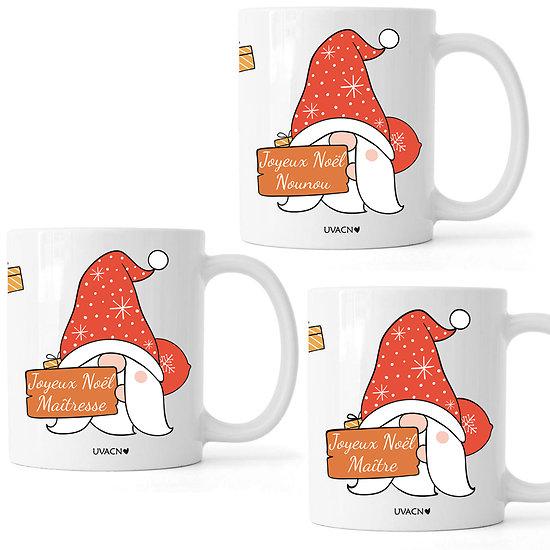 MUG Personnalisable Joyeux Noël Maîtresse Nounou Maître