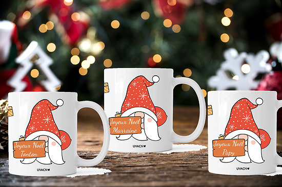 MUG Joyeux Noël Personnalisable pour toute la Famille