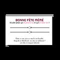 Carte Bonne fête mamie + Duo ou trio de Bracelets porte-bonheur Etoile