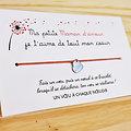 Carte de voeux Ma Petite Maman d'Amour + Bracelet porte bonheur