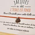 Carte Jacques a dit Merci Maîtresse + Bracelet porte bonheur Coeur INOX