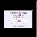 Carte de Noël Chouette Maîtresse + Bracelet porte bonheur Agate