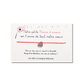 Carte Ma petite mamie d'amour + Bracelet porte bonheur Coeur INOX