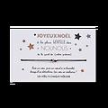 Carte Joyeux Noël Nounou et Bracelet porte bonheur