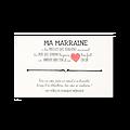 Carte de voeux + Bracelet pour Marraine a un amour sans fin
