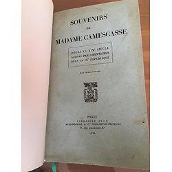 Souvenirs de Madame Camescasse
