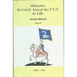 MEMOIREES DU CERCLE AMICAL DE PTT DE LILLE