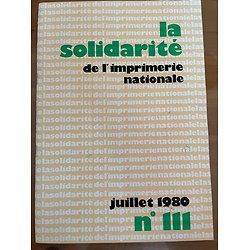 La solidarité de l'Imprimerie nationale