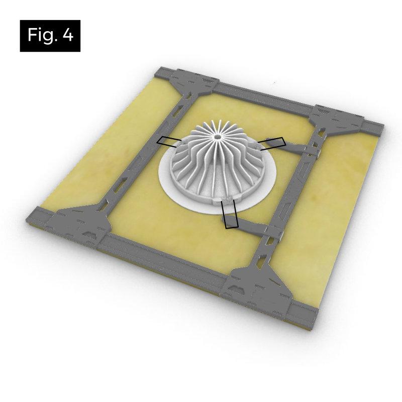 Renforcer une dalle de faux plafond avec un spot encastré à 3 ressorts