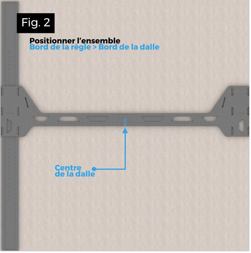 Trouver facilement le centre d'une plaque de faux plafond avec YBASE