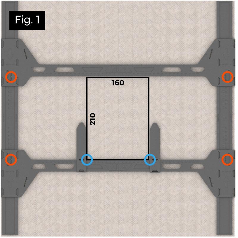tracer facilement un gabarit carré ou rectangulaire pour spot encastré
