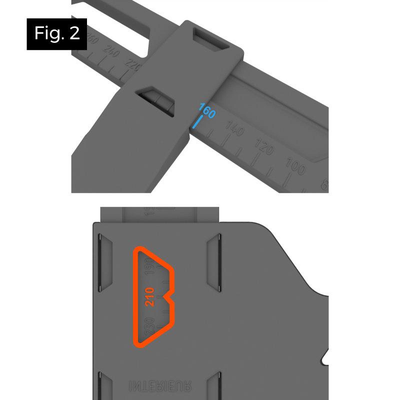Réaliser facilement la découpe d'un gabarit carré et rectangulaire pour spot encastré