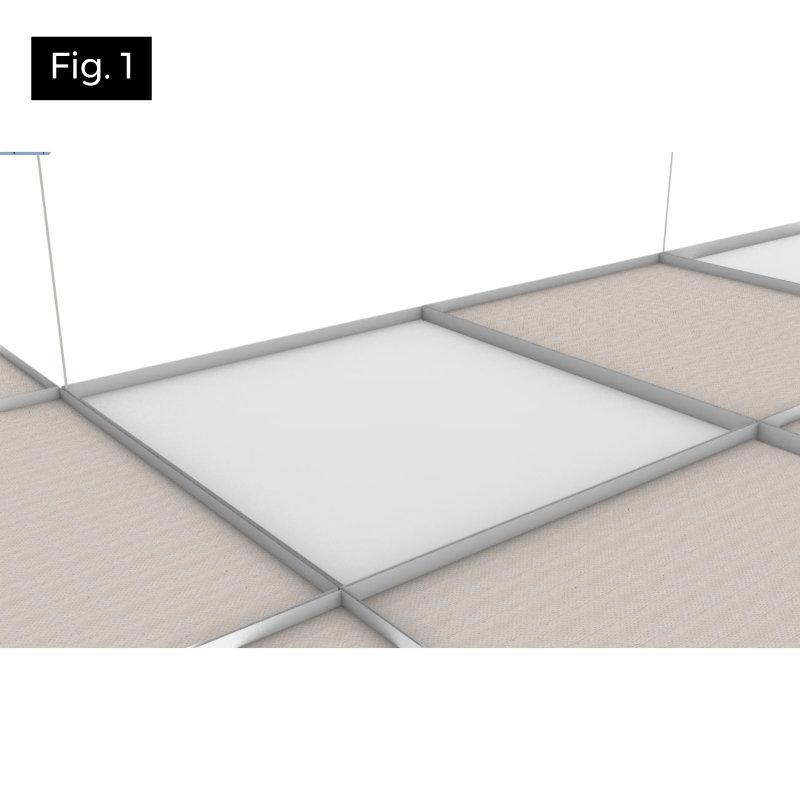 écarter la laine de verre sur un spot led pavé led dalle led étape 1