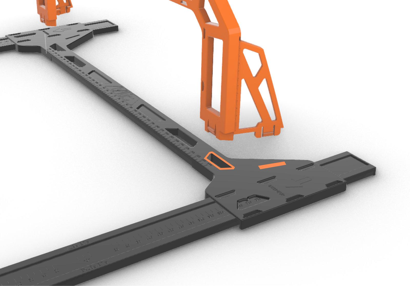 Installation des ponts YPONT pour écarter la laine de verre d'un spot encastré