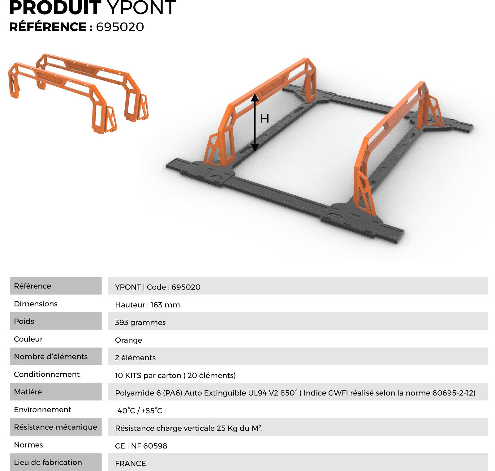 Données techniques du produit YLIS YPONT 695020